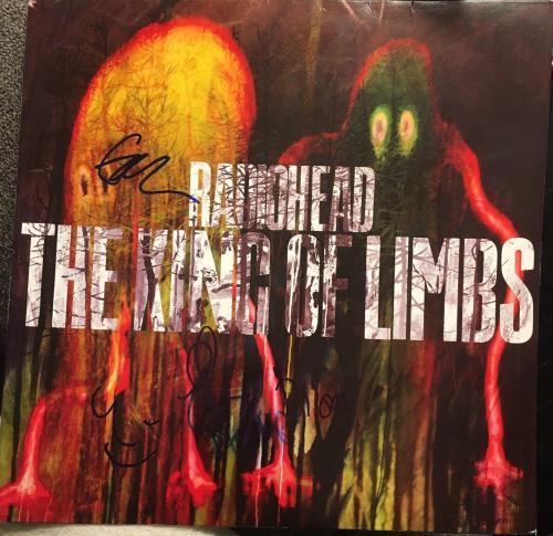 "Radiohead Full Band Signed Autograph ""the King Of Limbs"" Album Vinyl Yorke +5"