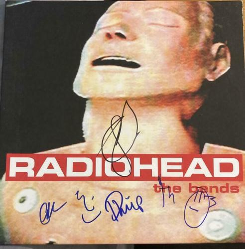 "Radiohead Full Band Signed Mint Autograph ""the Bends"" Album Vinyl Thom Yorke +5"