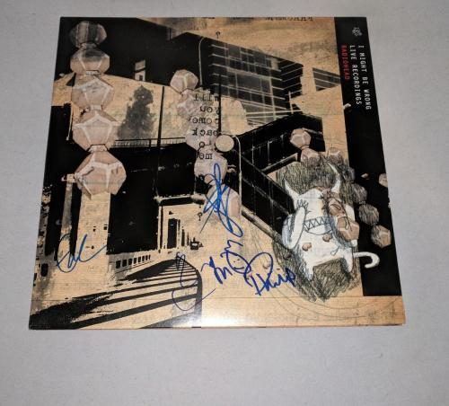 """RADIOHEAD signed autographed """"I MIGHT BE WRONG"""" LP RECORD BECKETT LOA THOM YORKE"""