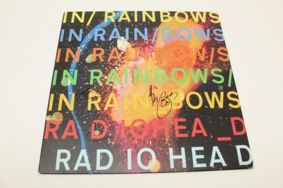 Radiohead X3 Signed Autograph Album Vinyl Record In Rainbows Thom Yorke Ed Colin