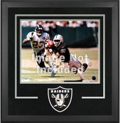Oakland Raiders Deluxe 16'' x 20'' Horizontal Photograph Frame with Team Logo - Mounted Memories