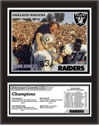 Oakland Raiders 12'' x 15'' Sublimated Plaque - Super Bowl XI - Mounted Memories