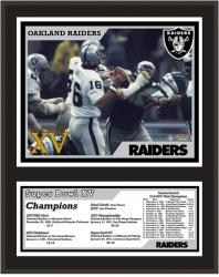 Oakland Raiders 12'' x 15'' Sublimated Plaque - Super Bowl XV - Mounted Memories