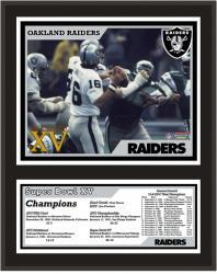 "Oakland Raiders 12"" x 15"" Sublimated Plaque - Super Bowl XV"
