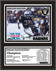 Oakland Raiders 12'' x 15'' Sublimated Plaque - Super Bowl XVIII - Mounted Memories