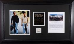 Rain Man Framed 8x10 Tom Cruise and Dustin Hoffman Photos with Piece of Hollywood Sign