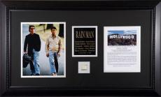Rain Man Framed 8x10 Tom Cruise and Dustin Hoffman Photos with Piece of Hollywood Sign