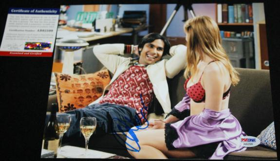 RAJ KOOTHRAPPALI Kunal Nayyar signed 8 x 10, Big Bang Theory, PSA/DNA AB62599
