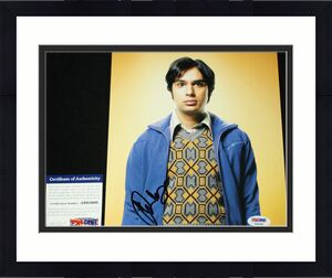 RAJ KOOTHRAPPALI Kunal Nayyar signed 8 x 10, Big Bang Theory, PSA/DNA AB62600