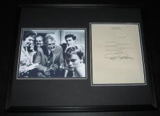 Ralph Bellamy Signed Framed 1980 Letter & Photo Display 16x20 Rosemary's Baby
