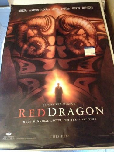Ralph Fiennes Red Dragon Signed Autograph Original Movie Poster PSA/DNA