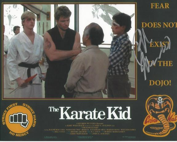 """RALPH MACCHIO as DANIEL LARUSSO in the Movie """"THE KARATE KID"""" Signed 10x8 Color Photo"""