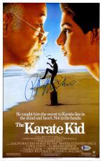 "Ralph Macchio Autographed 12"" x 18"" The Karate Kid Movie Poster - Beckett COA"