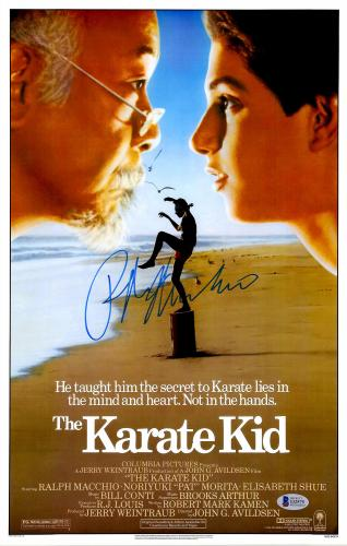 "Ralph Macchio Autographed 12"" x 18"" The Karate Kid Movie Poster - Beckett COA"