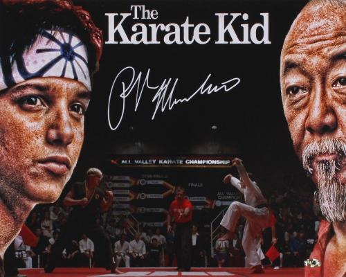 RALPH MACCHIO AUTOGRAPHED 16x20 COLOR PHOTO (THE KARATE KID) - W/ COA!
