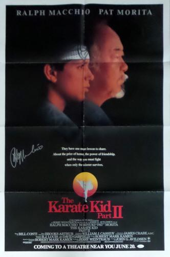 Ralph Macchio Autographed Original Karate Kid 2 Movie Poster 41x27 JSA Authentic