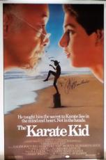 Ralph Macchio Autographed Original Karate Kid Movie Poster 41x27 JSA Authentic
