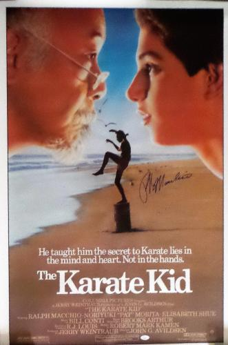 Ralph Macchio Autographed Original Karate Kid Movie Poster 41x27 JSA Authentic
