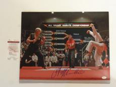 RALPH MACCHIO autographed signed Karate Kid 16x20 Photo JSA Witness