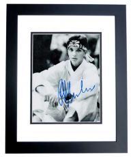 Ralph Macchio Signed - Autographed THE KARATE KID 8x10 Photo BLACK CUSTOM FRAME