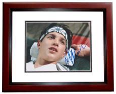 Ralph Macchio Signed - Autographed THE KARATE KID 8x10 Photo MAHOGANY CUSTOM FRAME