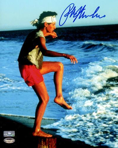 Ralph Macchio Autographed The Karate Kid (Training on Beach) 8×10 Photo
