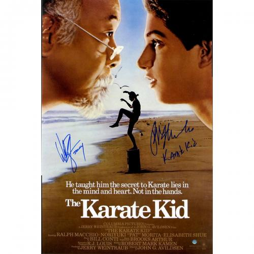 Ralph Macchio/Billy Zabka Dual Signed The Karate Kid 16x24 Poster