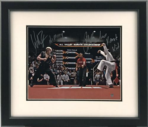 Ralph Macchio & Billy Zabka The Karate Kid Signed Crane Kick Framed 11x14 Photograph