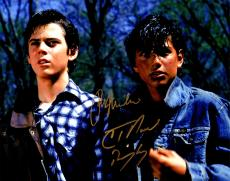 Ralph Macchio & C. Thomas Howell Dual Signed The Outsiders 11x14 Photo w/Ponyboy