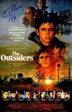 Ralph Macchio & C. Thomas Howell Dual Signed The Outsiders 11x17 Movie Poster w/Ponyboy