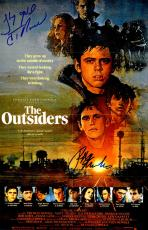 Ralph Macchio & C. Thomas Howell Dual Signed The Outsiders 11x17 Movie Poster w/Stay Gold