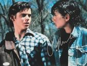 Ralph Macchio Chris Thomas Howell The Outsiders Signed 11x14 Photo JSA Authentic
