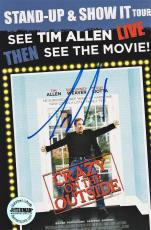 Tim Allen Crazy on the Outside Signed 6x4 Promo Card FSG