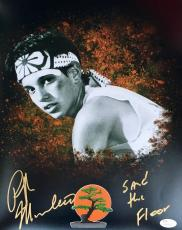Ralph Macchio Karate Kid (Sand The Floor) Signed 11x14 Photo JSA Q06614