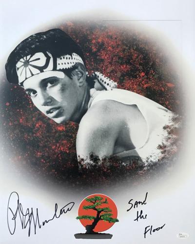Ralph Macchio Karate Kid (Sand The Floor) Signed 16x20 Photo JSA