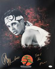 Ralph Macchio Karate Kid (Sand The Floor) Signed 16x20 Photo JSA Q06619