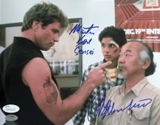 Ralph Macchio Martin Kove The Karate Kid Signed Autographed 8x10 Photo JSA