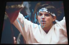 Ralph Macchio signed 8 x 10, Karate Kid, PHOTO SIGNED UPSIDE DOWN, COA