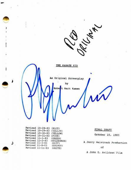 Ralph Macchio Signed Autograph - The Karate Kid Movie Script - Elisabeth Shue
