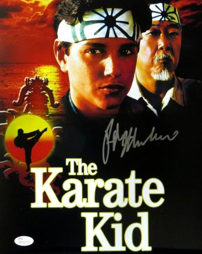 Ralph Macchio Signed Autographed 11X14 Photo The Karate Kid Poster Promo JSA