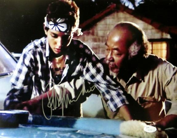 Ralph Macchio Signed Autographed 11X14 Photo The Karate Kid Wax On JSA