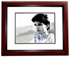 Ralph Macchio Signed - Autographed THE KARATE KID 11x14 Photo MAHOGANY CUSTOM FRAME