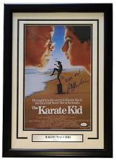 Ralph Macchio Signed & Framed 11x14 The Karate Kid Photo Wax On JSA