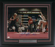 Ralph Macchio Signed Framed Karate Kid 16x20 Photograph vs Johnny Lawrence JSA