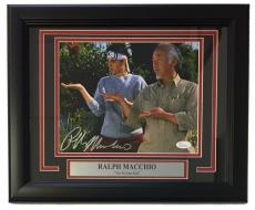 Ralph Macchio Signed Framed Karate Kid 8x10 Photograph with Mr. Miyagi JSA