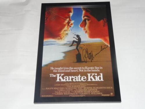Ralph Macchio Signed Framed The Karate Kid 11x17 Movie Poster Exact Proof