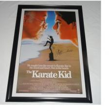 Ralph Macchio Signed The Karate Kid 27x40 Movie Poster Exact Proof