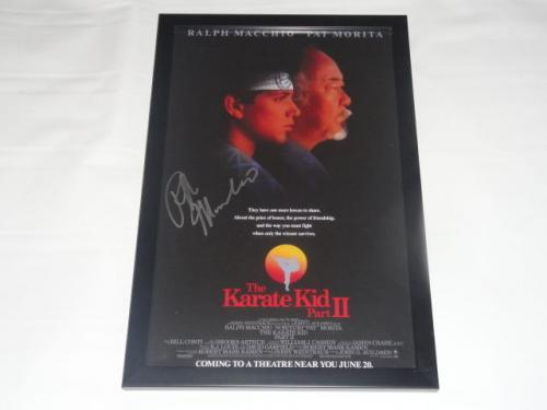 Ralph Macchio Signed Framed The Karate Kid Part Ii 11x17 Movie Poster Proof