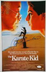 Ralph Macchio Signed Karate Kid 11x17 Movie Poster JSA