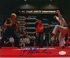 Ralph Macchio Signed Karate Kid 8x10 Photograph vs Johnny Lawrence JSA